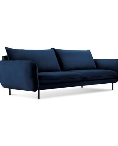 Modrá zamatová pohovka Cosmopolitan Design Vienna, 230 cm