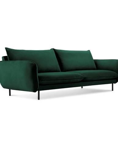 Zelená zamatová pohovka Cosmopolitan Design Vienna, 200 cm