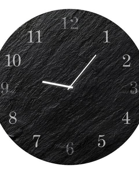 Styler Nástenné hodiny Styler Glassclock Carbon, ⌀ 30 cm