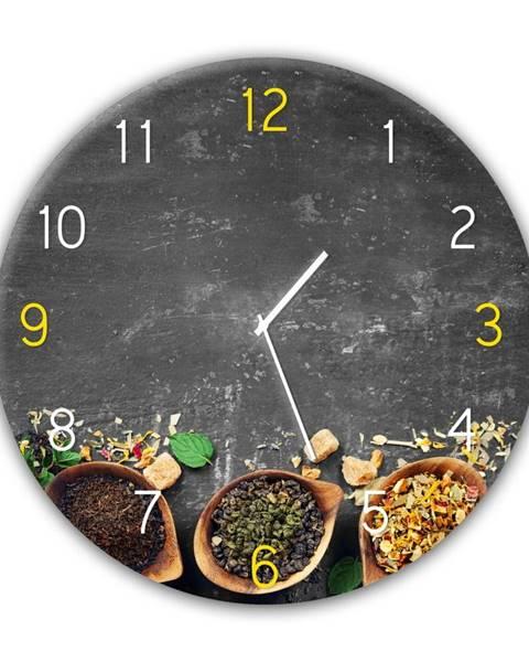 Styler Nástenné hodiny Styler Glassclock Tea, ⌀ 30 cm