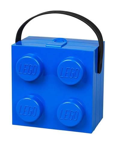 Modrý úložný box s rukoväťou LEGO®