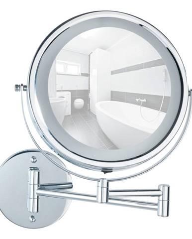 Nástenné zväčšovacie zrkadlo s LED osvetlením Wenko Power-Loc Lumi