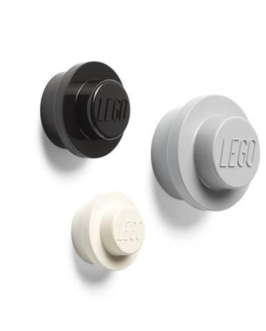 Súprava 3 vešiakov na stenu LEGO® Black And White