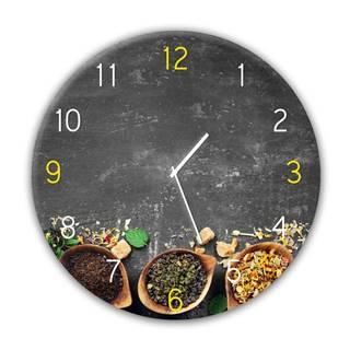 Nástenné hodiny Styler Glassclock Tea, ⌀ 30 cm