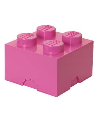 Ružový úložný box štvorec LEGO®