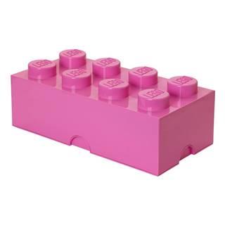 Tmavoružový úložný box LEGO®