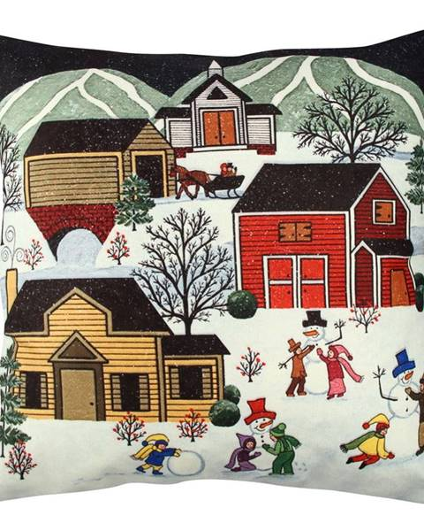 Gravel Vankúš Winter Village, 43 x 43 cm