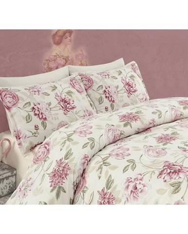 Ružové obliečky na dvojlôžko Care, 200×220cm
