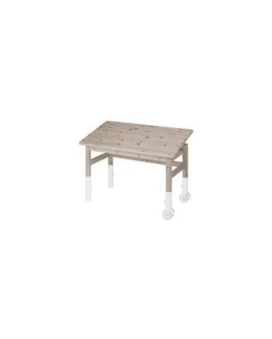 Hnedý písací stôl s náklopnou doskou Flexa Elegant