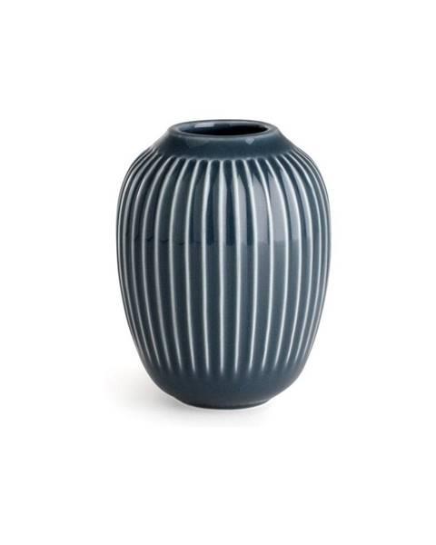 Kähler Design Antracitovosivá kameninová váza Kähler Design Hammershoi, výška 10 cm