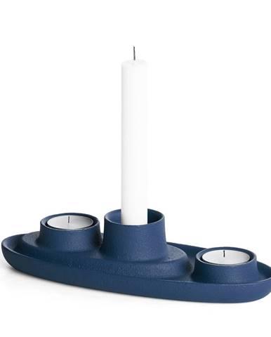 Tmavomodrý svietnik EMKO Aye Aye Three Candles