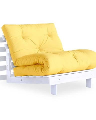 Variabilné kreslo Karup Design Roots White/Yellow
