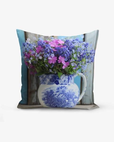 Minimalist Cushion Covers Obliečka na vankúš s prímesou bavlny Minimalist Cushion Covers Double Colorful Vazo Cicegi, 45×45 cm