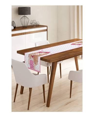 Behúň na stôl z mikrovlákna Minimalist Cushion Covers Curly Cute Girl, 45×145 cm