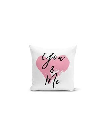 Obliečka na vankúš Minimalist Cushion Covers You & Me Heart, 45×45 cm