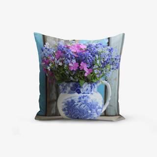 Obliečka na vankúš s prímesou bavlny Minimalist Cushion Covers Double Colorful Vazo Cicegi, 45×45 cm