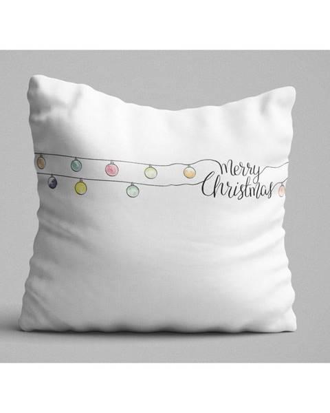 Bonami Biely vankúš Christmas Lights, 45 x 45 cm