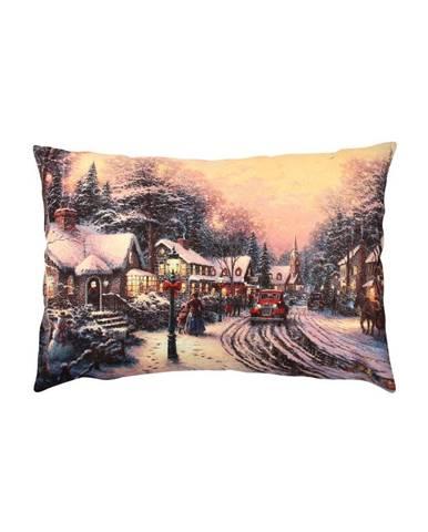 Vankúš Christmas Road In A Village, 43x48 cm