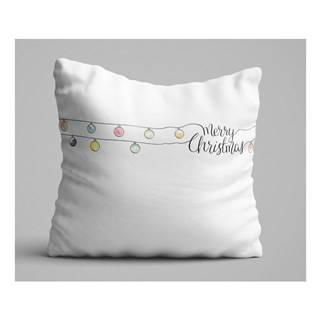 Biely vankúš Christmas Lights, 45 x 45 cm