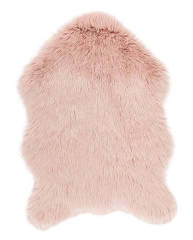 Ružová umelá kožušina Tiseco Home Studio Sheepskin, 60 × 90 cm