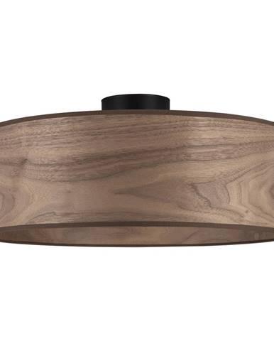 Stropné svietidlo s tienidlom z dreva orecha Sotto Luce TSURI XL