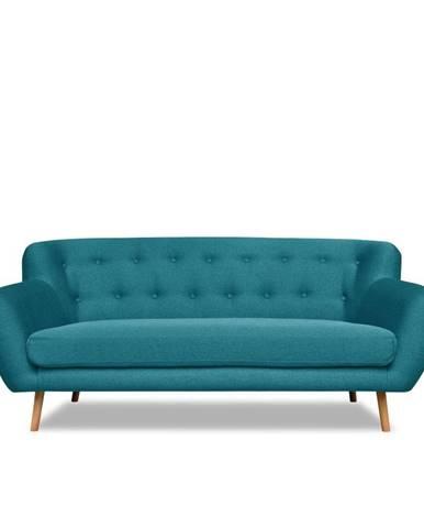 Tyrkysová pohovka Cosmopolitan design London, 192 cm