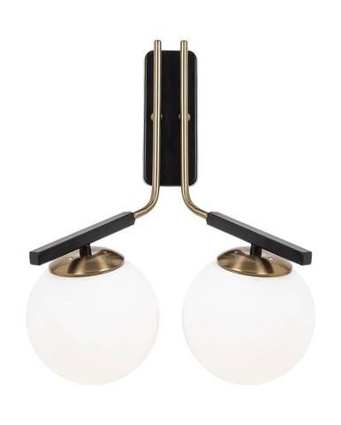 Čierne kovové nástenné svietidlo Opviq lights Tina