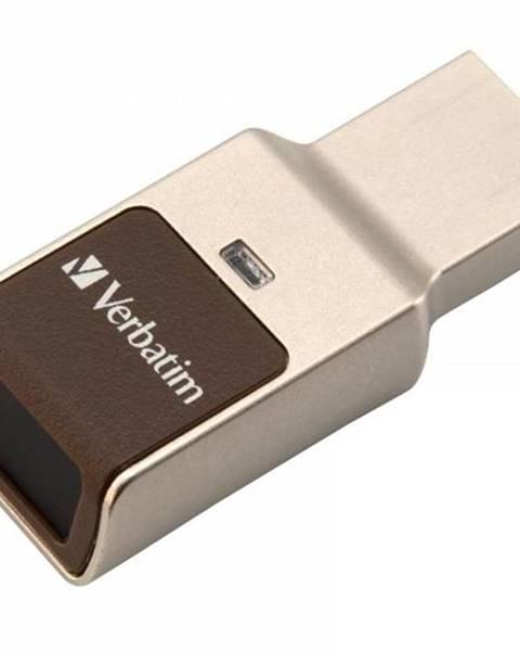 Verbatim USB flash disk Verbatim Fingerprint Secure, 64GB strieborný