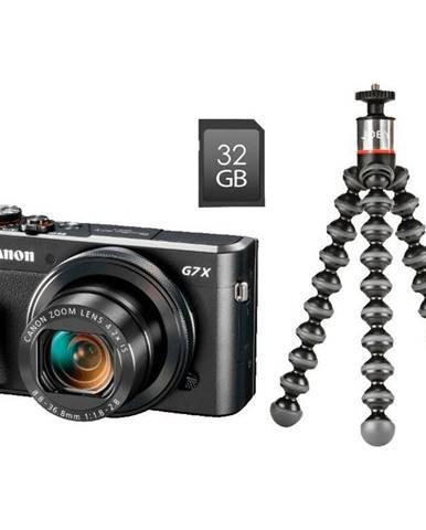 Digitálny fotoaparát Canon PowerShot G7X Mark II Vlogger Kit čierny