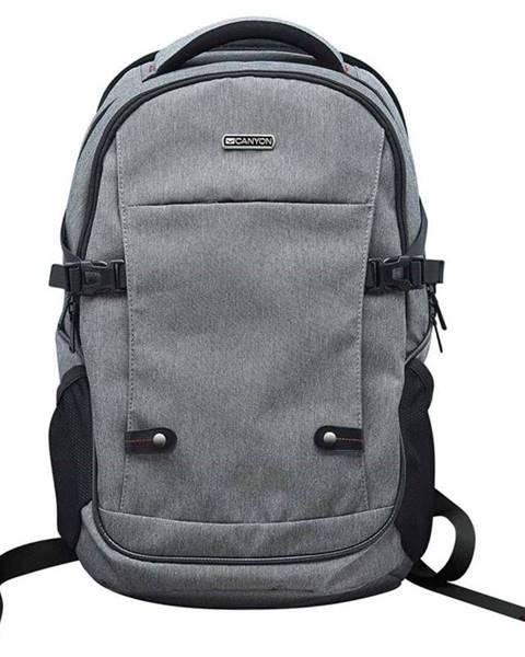 """Canyon Batoh na notebook  Canyon Spacious pro 15.6"""" sivý"""