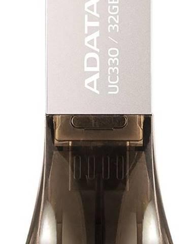 USB flash disk Adata UC330 32GB OTG Microusb/USB 2.0 hnedý