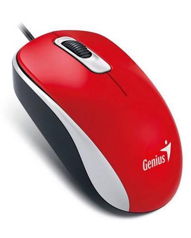 Myš  Genius DX-110 červená / optická / 3 tlačítka / 1000dpi
