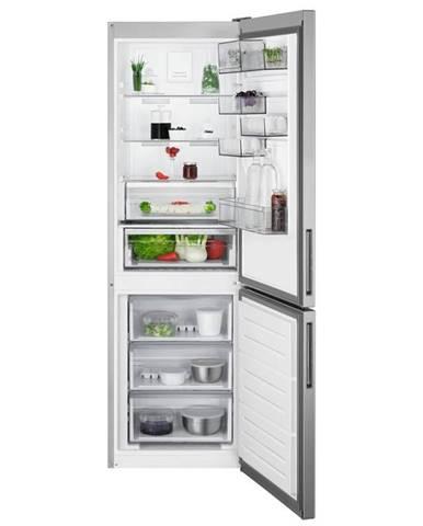 Kombinácia chladničky s mrazničkou AEG Rcb632e4mx nerez