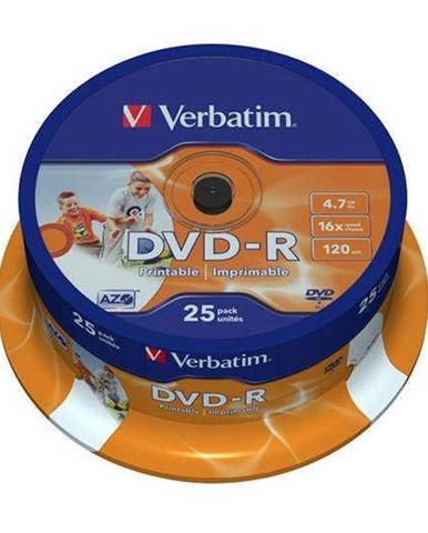 Disk Verbatim Printable DVD-R 4.7GB, 16x, 25cake