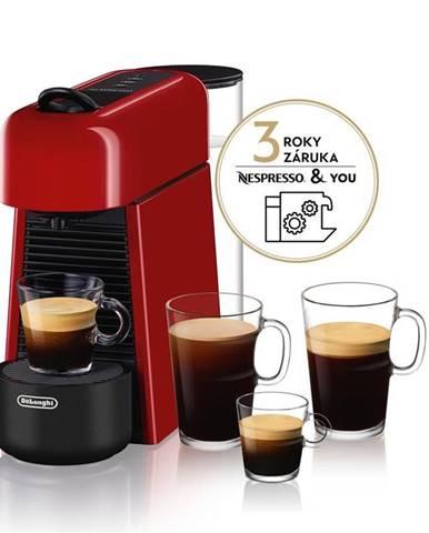 Espresso DeLonghi Nespresso Essenza Plus EN200.R červen