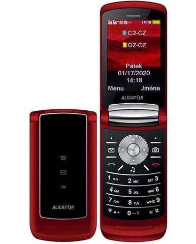 Mobilný telefón Aligator DV800 Dual SIM červený