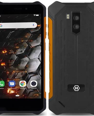 Mobilný telefón myPhone Hammer Iron 3 LTE čierny/oranžový