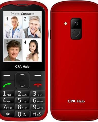 Mobilný telefón CPA Halo 18 Senior s nabíjecím stojánkem červený