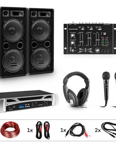 Electronic-Star eStar Block-Party II, DJ systém, sada, PA zosilňovač, DJ mixér, 2 x subwoofer, slúchadlá
