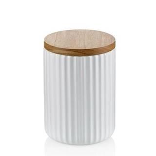 Kela Keramická dóza na potraviny 0,75 l, biela