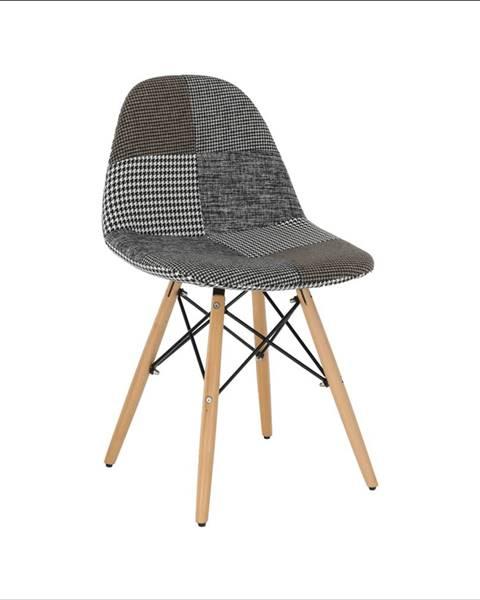 Tempo Kondela Dizajnová stolička látka patchwork PEPITO TYP 9