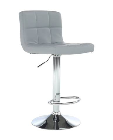 Barová stolička ekokoža sivá/chróm KANDY NEW