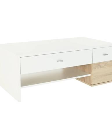Konferenčný stolík dub sonoma/biela DILANO
