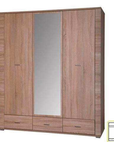 Skriňa so zrkadlom typ 2 dub sonoma GRAND