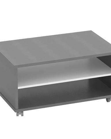 Konferenčný stolík grafit/biela RIOMA TYP 32