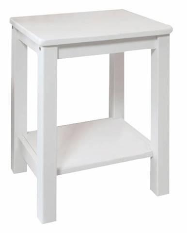 Nočný stolík masív/biela FOSIL