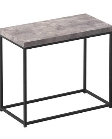 Príručný stolík čierna/betón TENDER