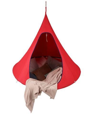 Závesné hojdacie kreslo červená KLORIN NEW BIG SIZE CACOON HAMMOCK