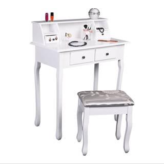 Toalený stolík/toaletka biela RODES NEW