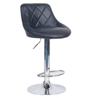 Barová stolička čierna ekokoža/chrómová MARID
